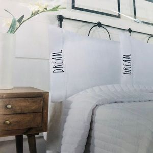 Rae Dunn Embroidered Pillowcases Set of 2